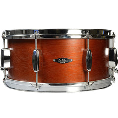 C&C 5.5x14 Player Date 1 Snare Drum Mahogany Stain