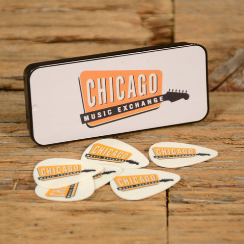 Chicago Music Exchange Collectible Guitar Pick Tin w/Tortex Standard .73mm (6)