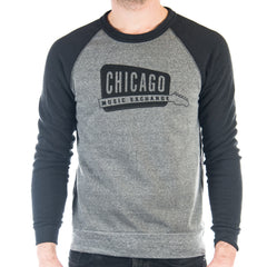 Chicago Music Exchange Color-Block Champ Sweatshirt Eco Grey/Eco True Black w/ Black Logo