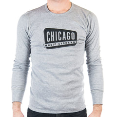 Chicago Music Exchange Thermal Heather Grey Classic Logo
