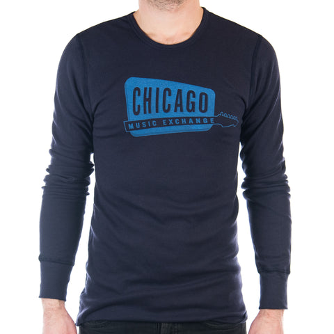 Chicago Music Exchange Thermal Navy Classic Logo