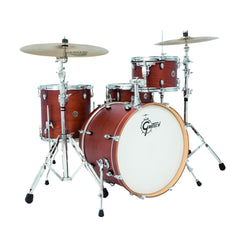 Gretsch Catalina Club Classic 4pc Shell Pack 12/14/20/5.5x14 Satin Walnut Glaze
