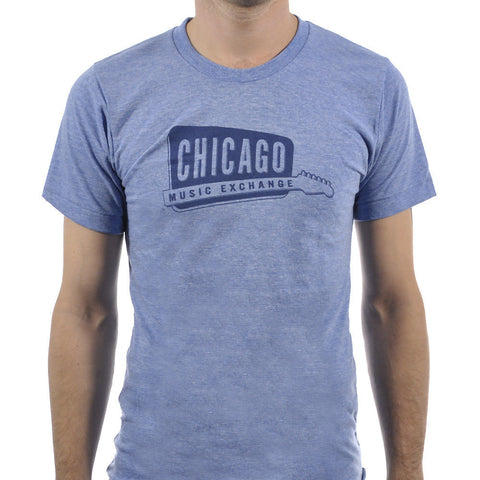 Chicago Music Exchange Classic Logo T-Shirt Athletic Blue