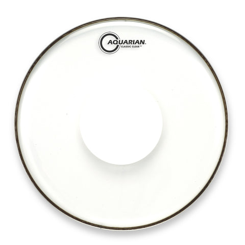 Aquarian 14 Inch Classic Clear w/Power Dot Drum Head