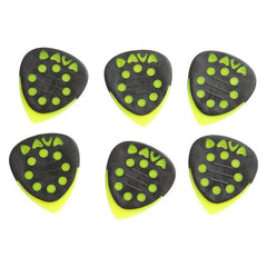 Dava Grip Tip Nylon Guitar Picks Yellow 6-Pack