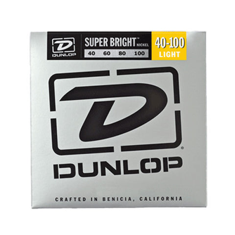 Dunlop Super Bright Nickel Wound Bass Strings Light 40-100