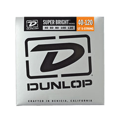 Dunlop Super Bright Nickel Wound Bass Strings 5-String Light 40-120