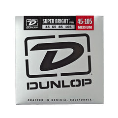 Dunlop Super Bright Stainless Steel Bass Strings Medium 45-105