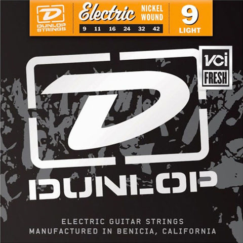 Dunlop Strings Electric Nickel Plated Steel Light 9-42