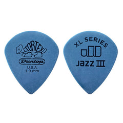 Dunlop Tortex Jazz III Guitar Picks XL Blue 1.00mm Player's Pack (12)