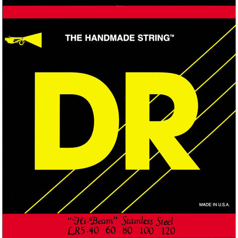 DR Strings LR5-40 Hi-Beams Light 5-String Bass Strings