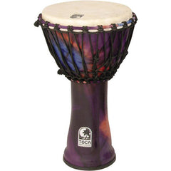 Toca 10 Inch Synergy Freestyle Rope Tuned Djembe - Woodstock Purple