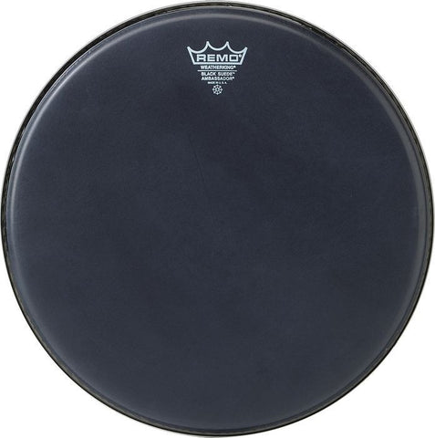 Remo 14 Inch Batter Black Suede Ambassador Drum Head