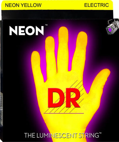 DR Strings Neon Phosphorescent Yellow Electric Medium 10-46