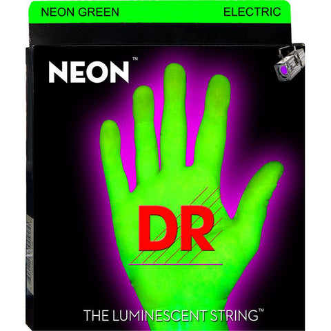 DR Strings Neon HiDef Green Medium Electric Guitar Strings
