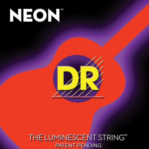DR Strings Neon Phosphorescent Orange Acoustic Light 12-54