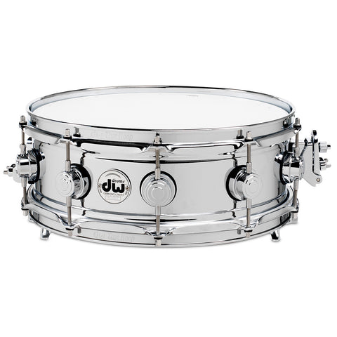 DW 5x14 True Sonic Chrome Over Brass Snare Drum