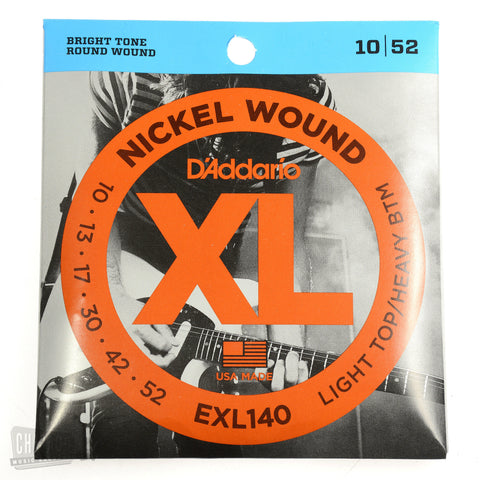 D'Addario EXL140 Electric Light Top/Heavy Bottom 10-52