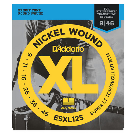 D'Addario ESXL125 Double Ball End Electric Guitar Strings Light Top/Regular Bottom 9-46