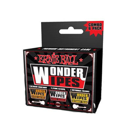 Ernie Ball Wonder Wipes Variety 6 Pack