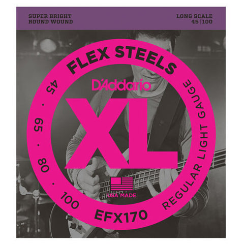D'Addario EFX170 FlexSteels Bass Light 45-100 Long Scale