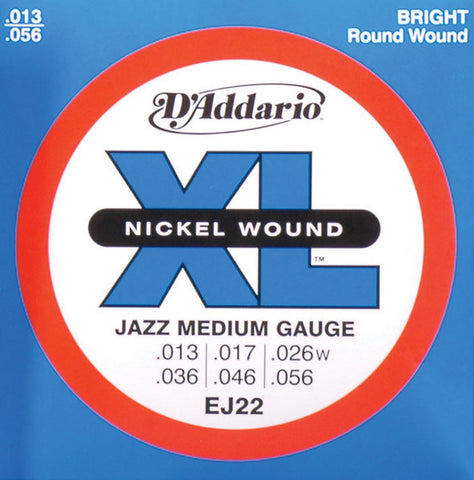 D'Addario EJ22 Nickel Jazz Medium Electric Guitar Strings 13-56