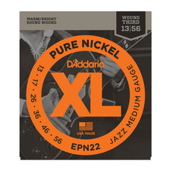 D'Addario EPN22 Pure Nickel Electric 13-55 Jazz Medium