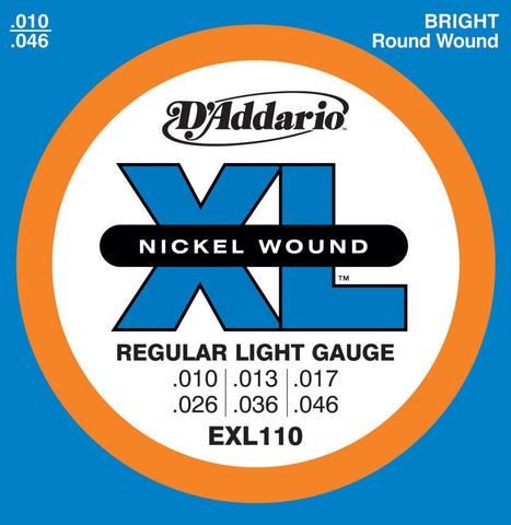 D'Addario EXL110 Regular Light Set Electric Guitar Strings 10-46