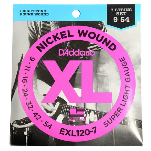D'Addario EXL120-7 Electric 7-String Super Light 9-52