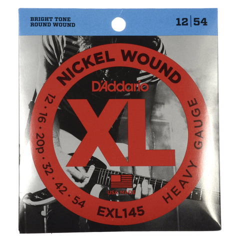 D'Addario EXL145 Electric Heavy 12-54