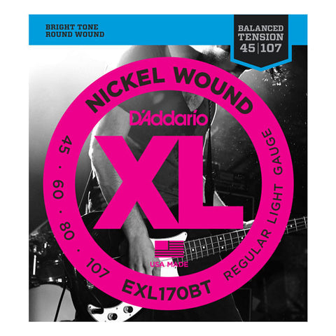 D'Addario EXL170BT Balanced Tension Long Scale Bass 45-107 Regular Light
