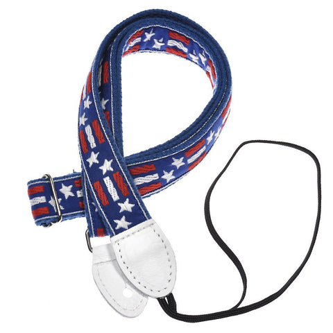 Souldier Mandolin Strap - 1 Inch Stars & Bars & Blue Belt