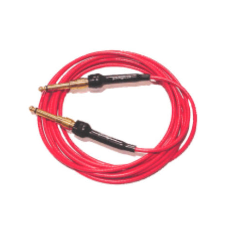 George L's Instrument Cable 15' .155 Vintage Red with Unplated Plugs