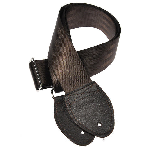 Souldier Guitar Strap - Plain Dark Brown