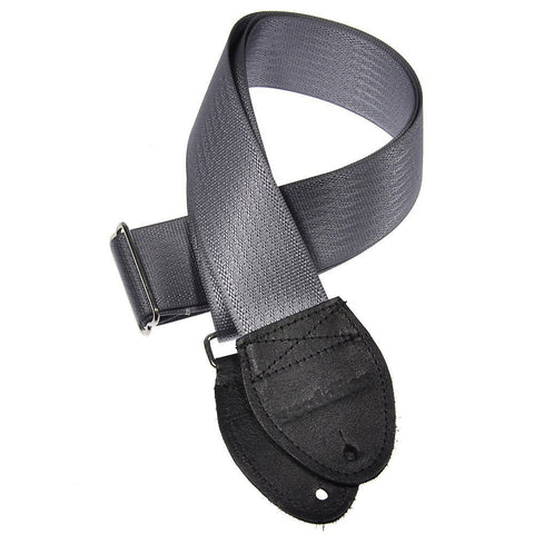 Souldier Guitar Strap - Plain Gray (Black Ends)