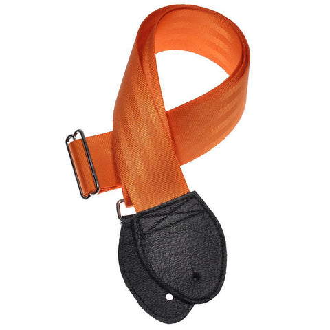 Souldier Guitar Strap - Plain Orange & Black Ends