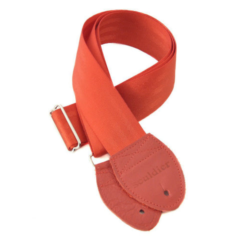 Souldier Guitar Strap - Red (Red Ends)
