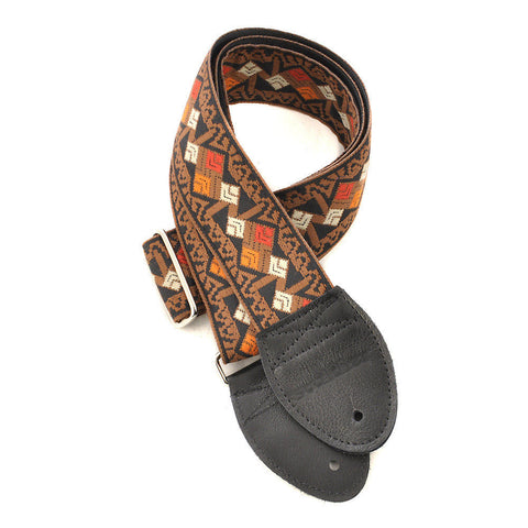 Souldier Guitar Strap - Clapton Brown (Black Ends)