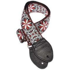 Souldier Guitar Strap - Dresden Star Red (Black Ends)