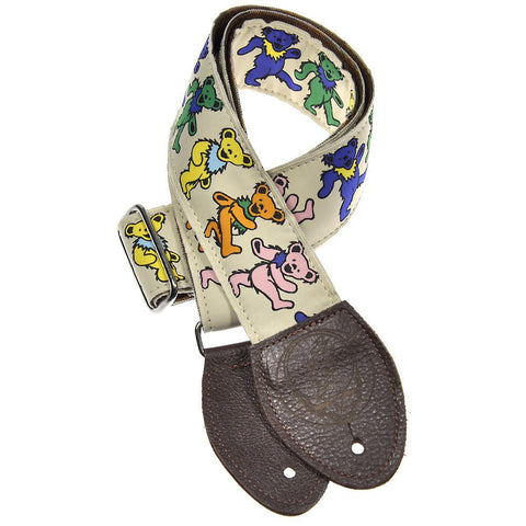 Souldier Guitar Strap - Grateful Dead Dancing Bears on Tan