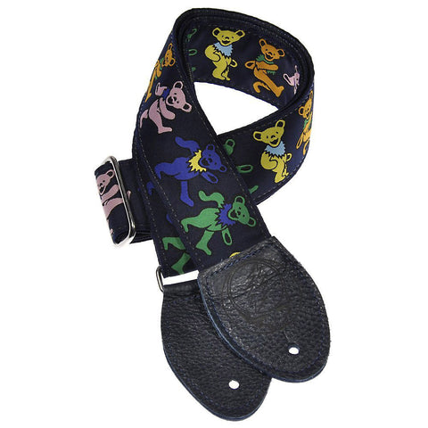 Souldier Guitar Strap - Grateful Dead Dancing Bears on Navy Blue