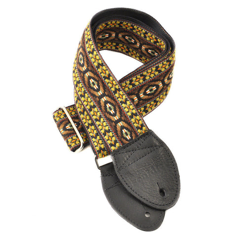 Souldier Guitar Strap - Bohemian Brown (Black Ends)