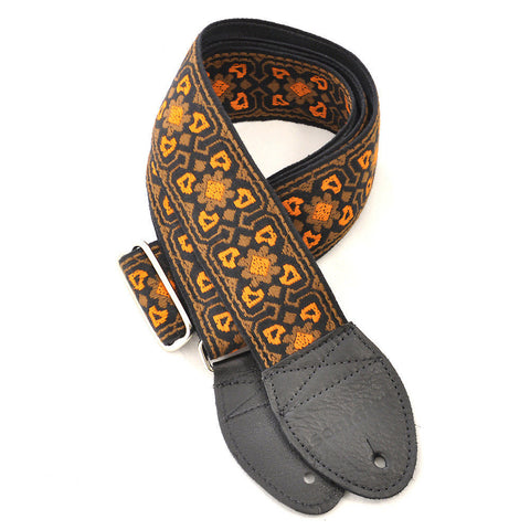 Souldier Guitar Strap - Fillmore Brown / Orange Black Ends