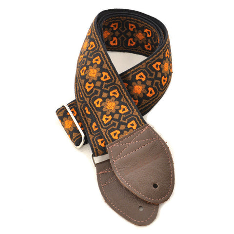 Souldier Guitar Strap - Fillmore Brown/Orange (Brown Ends)