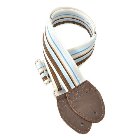 Souldier Guitar Strap - Boardwalk White Belt (Brown Ends)