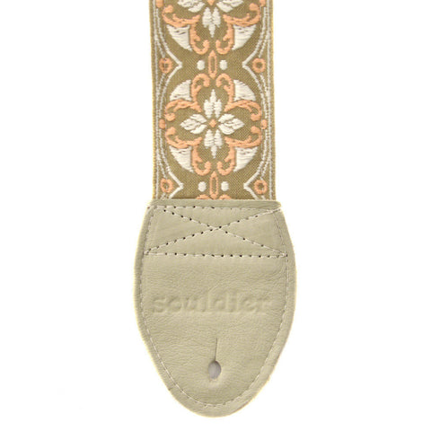 Souldier Guitar Strap - Lotus Olive/Peach/Tan