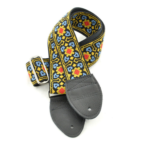 Souldier Guitar Strap - Fillmore Blue / Yellow / Red