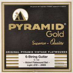 Pyramid Gold Flatwound Light Electric Guitar Strings 10-465