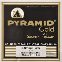 Pyramid Gold Flatwound Medium Electric Guitar Strings 11-48