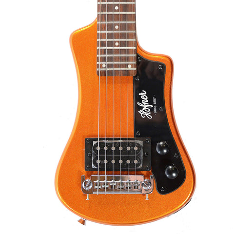 Hofner CT Shorty Travel Guitar Limited Edition Orange Metallic